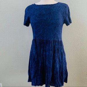 FOREVER 21 soft cotton blue denim babydoll dress M